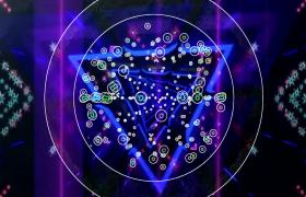 炫丽的几何图形灯光闪耀视频免费下载