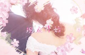 唯美浪漫的粉色系列婚礼倒计时AE模板