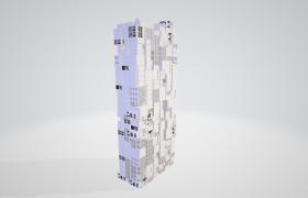 中高层未来元素科技大厦C4D模型下载(不含建筑贴图素材)