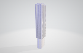 简约科幻风3D史诗城市建筑模型下载-C4D模型下载