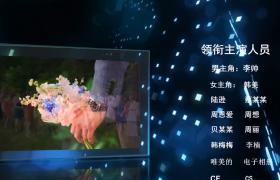 电视剧电影栏目结尾字幕上浮展示工作人员介绍会声会影片尾模板