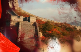 党政中国梦图文宣传会声会影片头视频模板