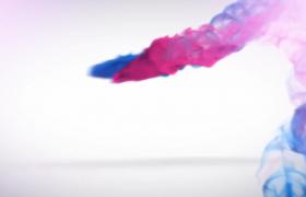 红蓝烟雾演绎唯美震撼企业logo会声会影水墨徽标演示模板