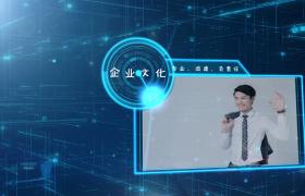 蓝色科技三维立体公司简介幻灯片AE模板