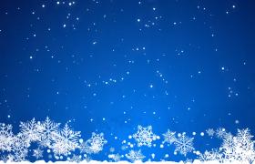 梦幻唯美的冬日雪花飘零MG动画合成视频素材