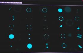 三百款不同类型风格实用的发光动态MG动画元素UI图标