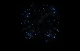 十五个2K高清烟花在夜空绚丽绽放的动画视频素材(黑色背景无透明通道)