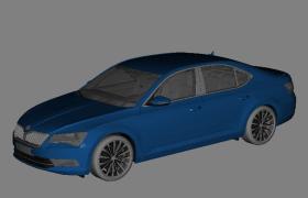 3D立體的汽車影視特效模型FPx格式c4d模型