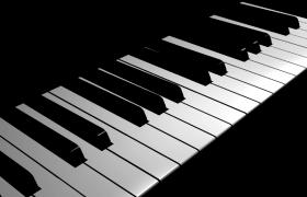 优雅简洁黑白钢琴片头片尾会声会影模板