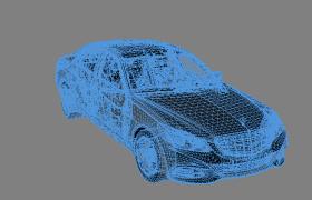 超强的科技带入感 3维网状mercedes benz汽车c4d模型
