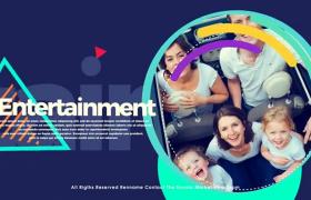 色彩鲜明的图文展示AE模板免费下载