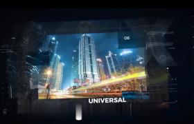 模糊边框的大城市宣传片AE模板素材免费下载