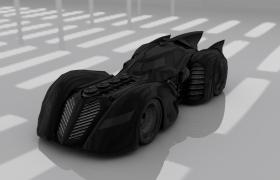 c4d模型动感光亮DC漫画蝙蝠侠战车