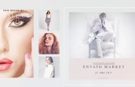 小清新风格的时尚品牌图文排版展示AE模板