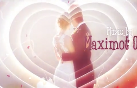 温馨的粉色爱心通道婚庆典礼开场片头AE模板