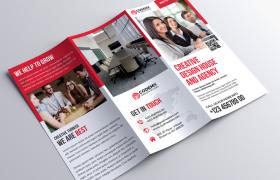 三色多选择经典商务宣传手册卡片素材