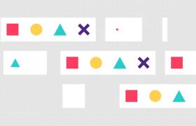 ?簡單的視頻游戲幾何圖形開場片頭AE動態模板