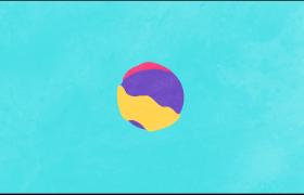 多彩而又優美的動畫液體運動標志