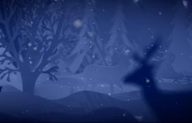 圣誕節夢幻絢麗的節日祝福Pr模板