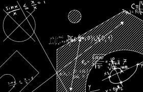 高等數學函數微積分公式旋轉效果pr模板
