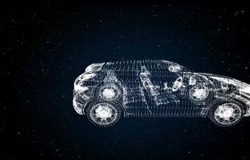 闪耀的粒子自由变化成交通工具宣传片特效Pr模板