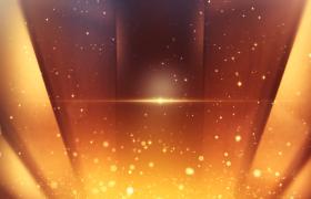 ?絢麗金黃色粒子光輝背景頒獎典禮pr模板