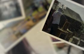 懷舊復古相片記錄冊圖文展示pr模板