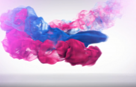 红蓝水波旋转交融消散演绎企业品牌logo动画会声会影模板