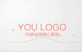 波形點線文字標題渲染logo演示MG動畫會聲會影模板