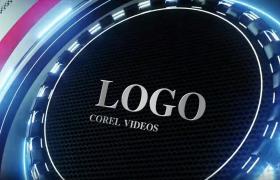 高新科技三維立體圓形旋轉影視欄目宣傳動畫會聲會影模板