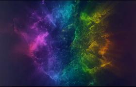 五顏六色的粒子束集中爆炸四射揭示logo徽標PR素材