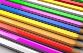 五彩斑斓的铅笔pencil静物写实C4D模型