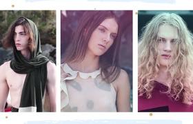 時尚簡約的美女模特圖片展示AE素材