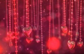 红色喜庆梦幻婚礼浪漫爱情表白视频开场片头模板