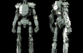 高科技智能机器人设计N0.1c4d模型素材下载