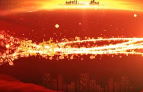 炫酷的粒子交汇演绎图文主题宣传视频模板