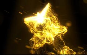 ?金色的粒子匯聚成的小鳥翩翩起舞直至消失PR素材