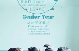 流行時尚青春校園畢業季宣傳海報模板