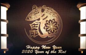 2020年创意新颖的鼠年logo徽标展示AE模板素材