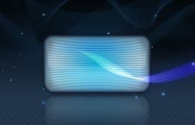 簡約藍色閃耀星空玻璃卡通pr模板