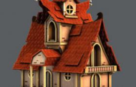 卡通游戏造型房屋3D模型素材下载