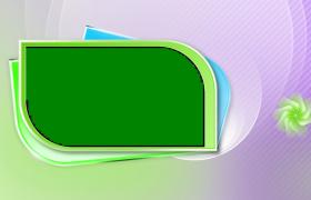 椭圆卡片形状旋转展开卡通pr模板