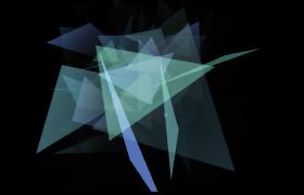 透明彩色三角形叠加闪耀变幻特效高清视频素材