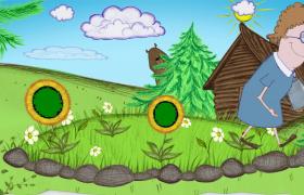 綠色卡通兒童手繪畫展示pr模板