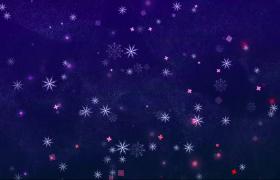 蓝色梦幻的雪花飘落圣诞节舞台背景视频素材