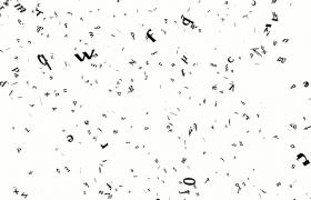 英文字母斜灑飄落時尚現代舞臺特效視頻素材