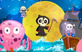 恐怖搞笑逗趣的MG万圣节动画视频素材