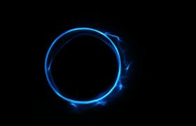 线性光效粒子震撼圆形演绎影视片头栏目logo会声会影模板