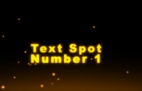 ?金色粒子漂浮文字懸浮演繹短片主題會聲會影片頭模板