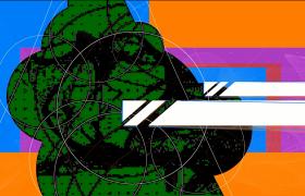 潮流精簡的線條疊加圖片設計介紹Pr模板